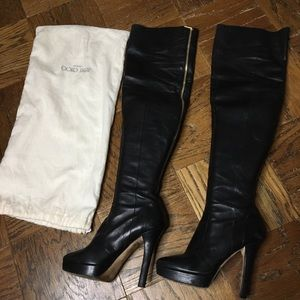 Jimmy Choo over the knee platform boots
